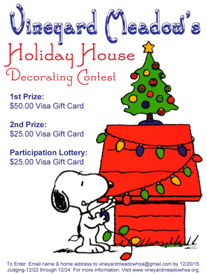 2015 Holiday House Decorating Contest Vineyard Meadow Hoa